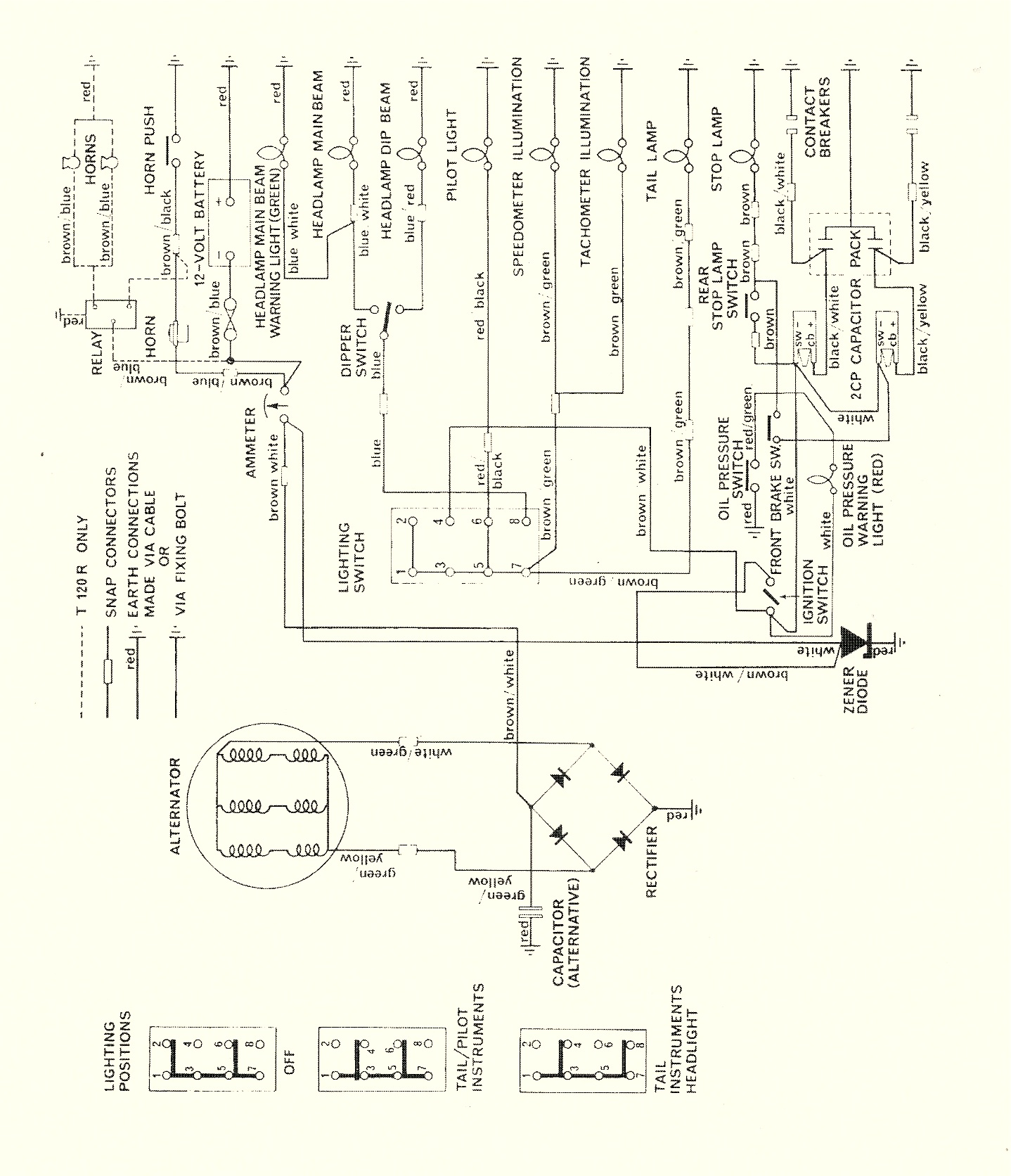 1970 triumph 650 Wiring Diagram triumph 650 wiring diagram triumph t100r wiring \u2022 wiring diagrams Wiring Harness Diagram at reclaimingppi.co