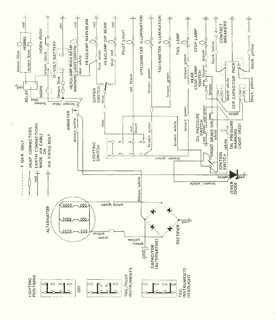 Triumph Wiring Diagram For A 1973 Bonneville