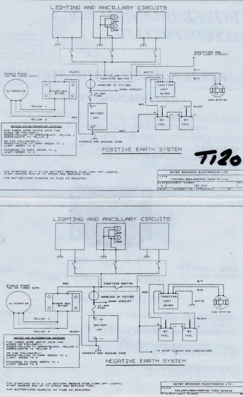 small resolution of boyer positive ground triumph wiring diagram