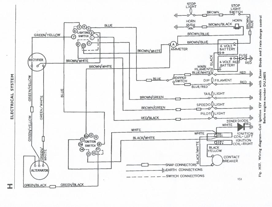 1971 triumph bonneville wiring diagram 92 honda accord engine terry macdonald unit 650 1963 1970