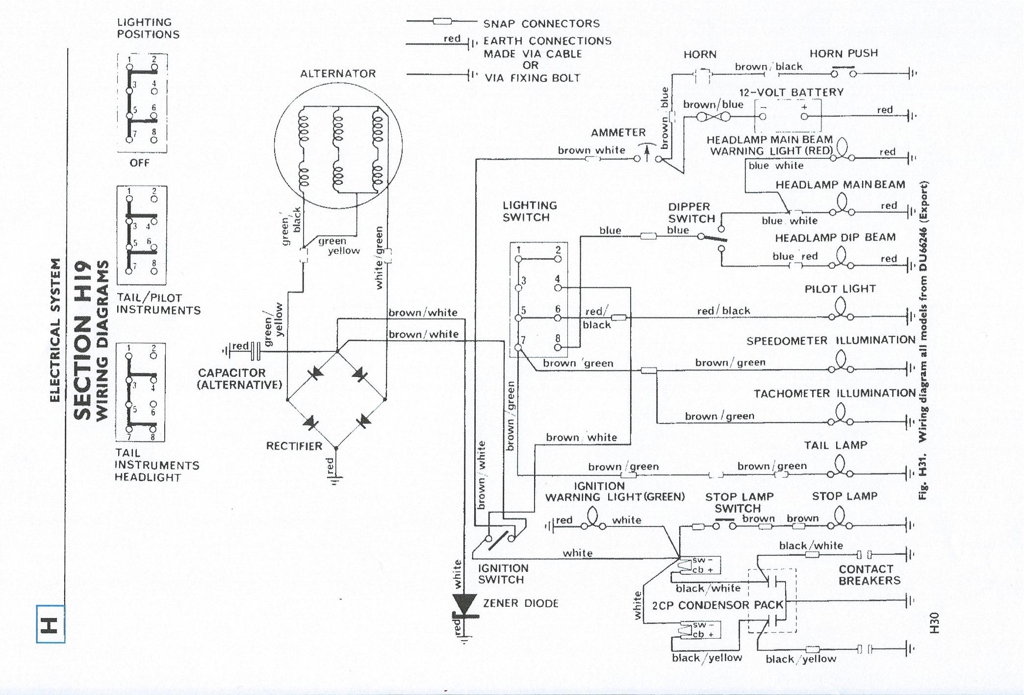 1971 triumph wiring diagram