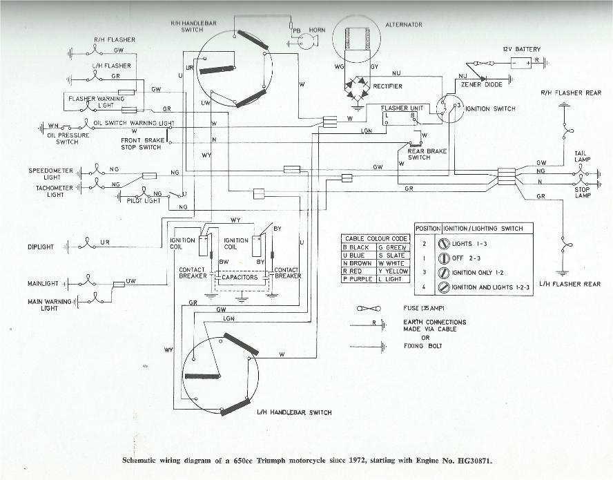 hazard switch wiring diagram on triumph tr6 wiring diagram