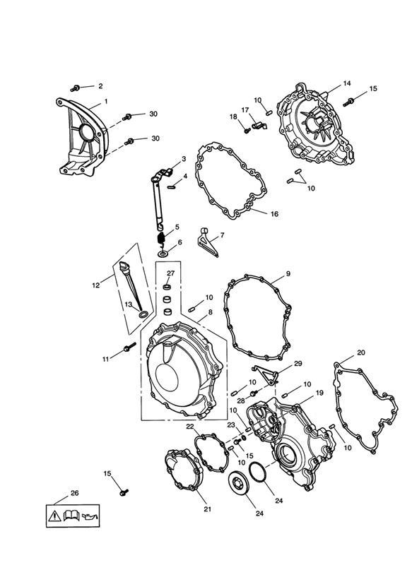 2002 Triumph Speed Triple Clip, Cable Guide. Engine