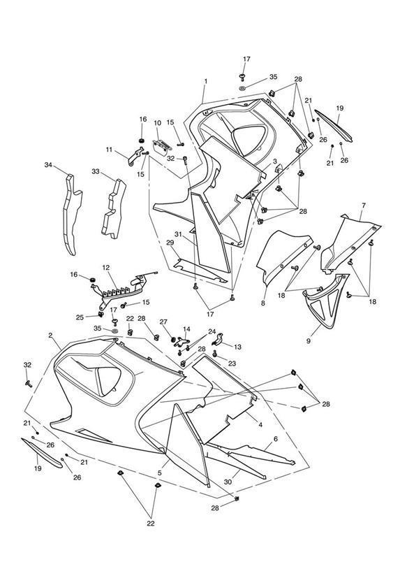 Triumph Sprint Brkt, LH Bodywork & Regulator. 523250