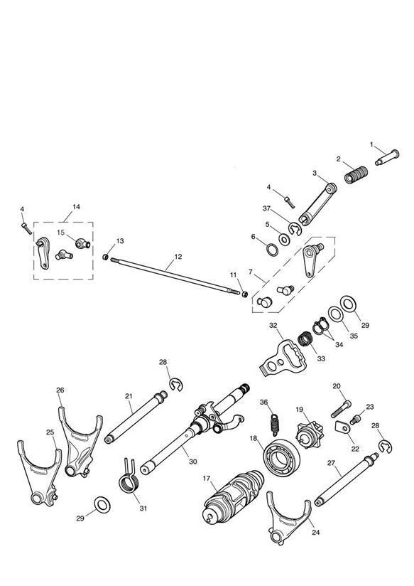2014 Triumph Thunderbird E-circlip, internal dia 10. Gear