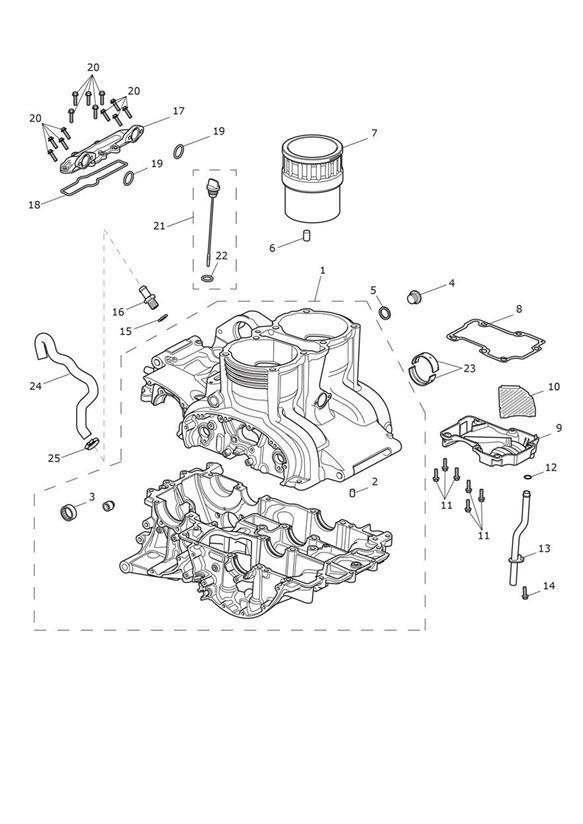 2012 Triumph Thunderbird Gasket, Breather. Engine