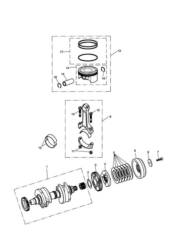 2013 Triumph Thunderbird Circlip, Piston. Engine, KITS