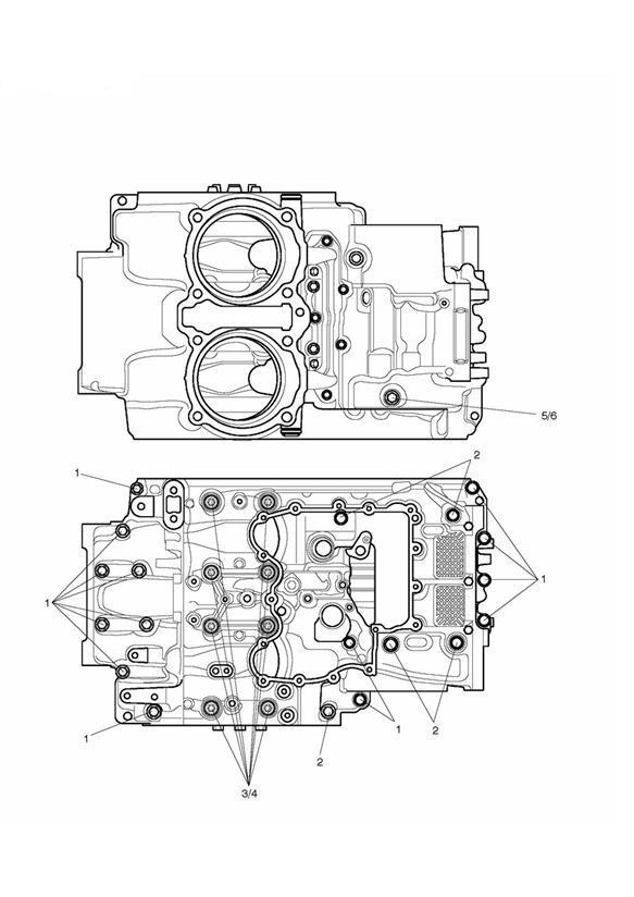 2012 Triumph Thunderbird Washer, M10, Hardened. Engine