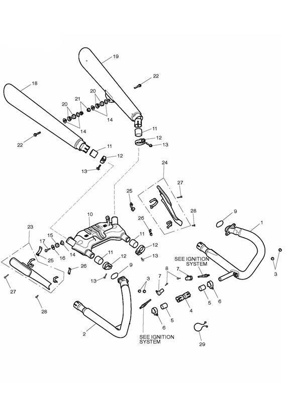 2012 Triumph Thunderbird Clip, Twist Lock, Dia 37.9