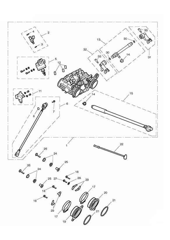 2013 Triumph Thunderbird Bracket, Throttle Cable, Kit