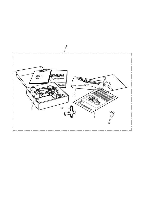 2011 Triumph Thunderbird Alarm kit, s4. Security, alarms
