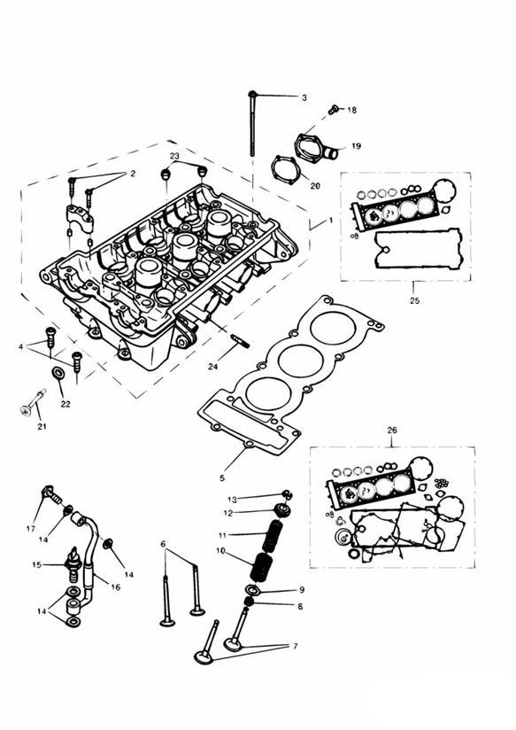 1993 Triumph Tiger Valve spring kit. ENG, Engine, Valves
