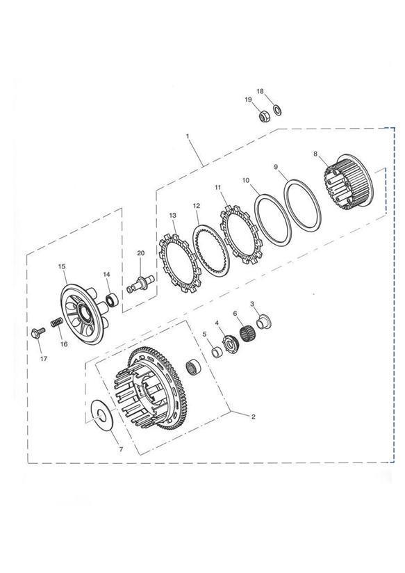 2001 Triumph Tiger Drum. Outer. Clutch, Transmission, Eng
