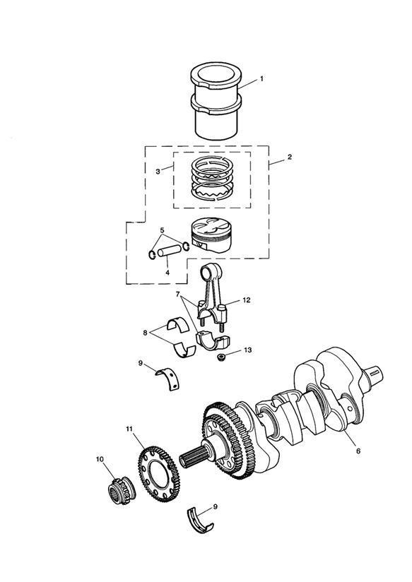 2002 Triumph Tiger Cylinder liner. Engine, Pistons, Liners