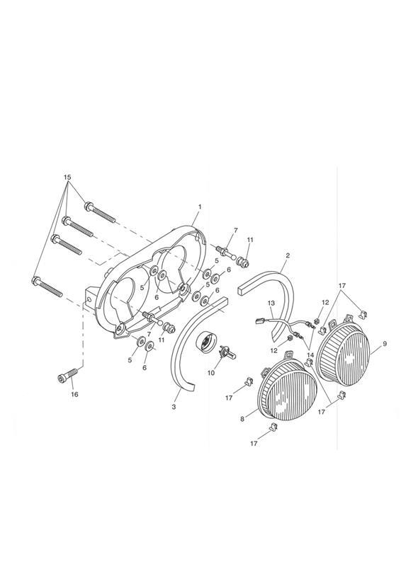 2002 Triumph Tiger Bulb, W5W, 5W, 12V, Clear. Headlight