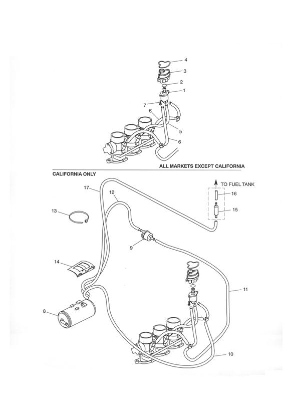 2002 Triumph Tiger Pipe, Fuel, 40mm. USCAL, Tank, System