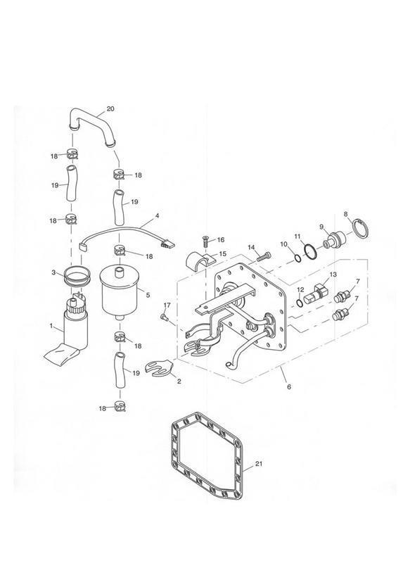 2001 Triumph Tiger Fuel Pump, EFI. 198856 >. Filter, Vin