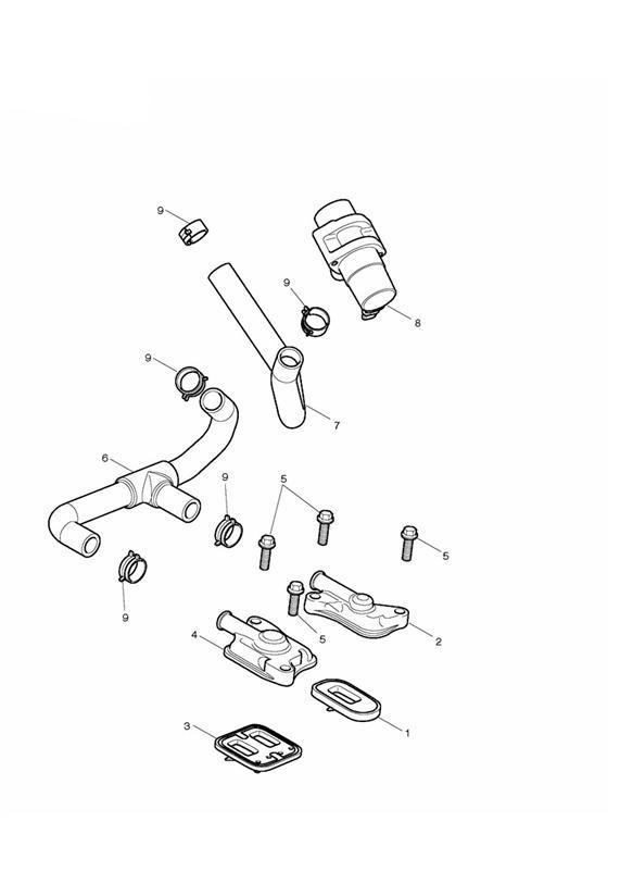 2009 Triumph Daytona Hose, Sai. System, Fuel, Emissions