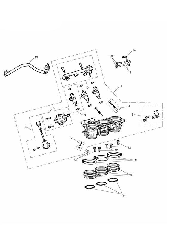 2015 Triumph Daytona Throttle Position Sensor Kit. Fuel