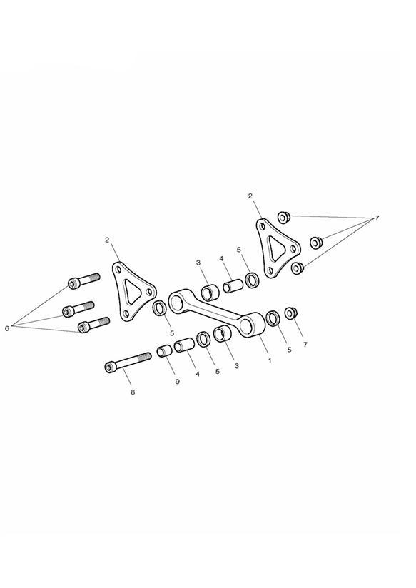 2014 Triumph Daytona Bolt, TX, M10 x 52.5. Suspension
