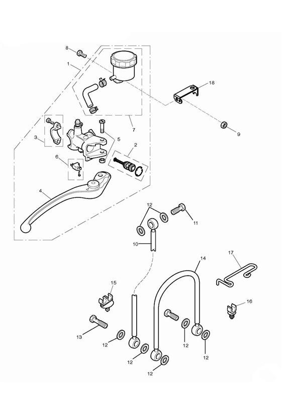 2009 Triumph Daytona Wire Guide, Brake Hose. Master, Hoses
