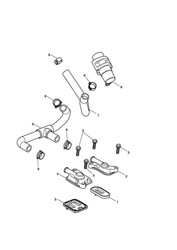 2014 Triumph Daytona Hose, Sai. System, Fuel, Emissions