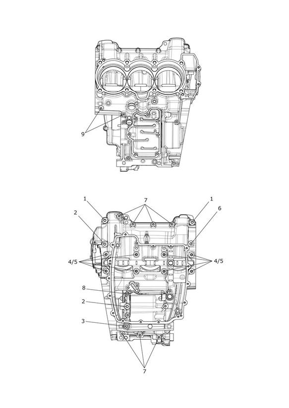 2013 Triumph Tiger Bolt, HHF, M8 x 116.5, Slv. Engine