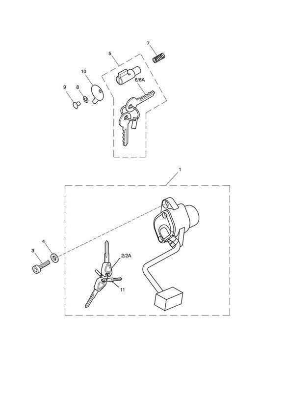 2014 Triumph America Key, Blank. Switch, Supplied