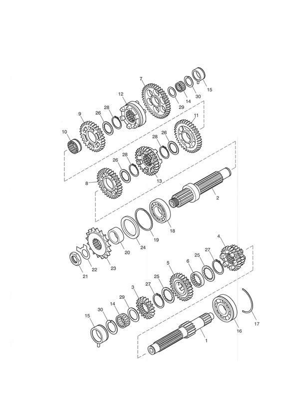2004 Triumph Bonneville Gear Assy, 1st Output