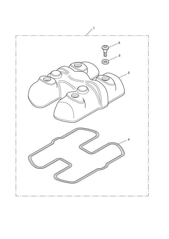 2012 Triumph Bonneville Seal, Cam Cover. > Eng No 456551