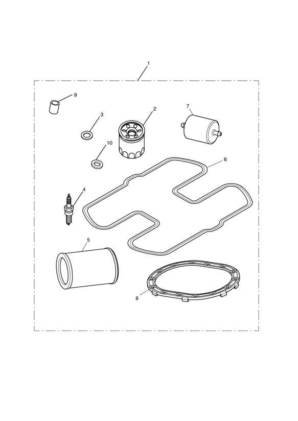2011 Triumph Bonneville Oil Filter, OES. Service, Kits