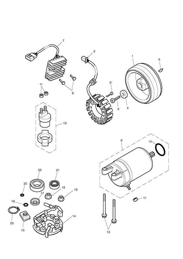 2014 Triumph Bonneville Stator, Alternator. System