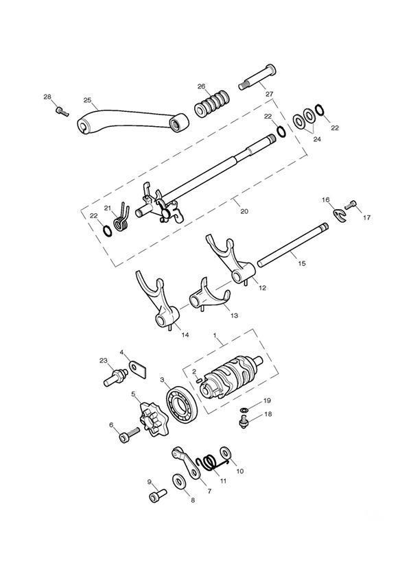 2017 Triumph Bonneville Gearchange Shaft Assy. Eng, Pedal