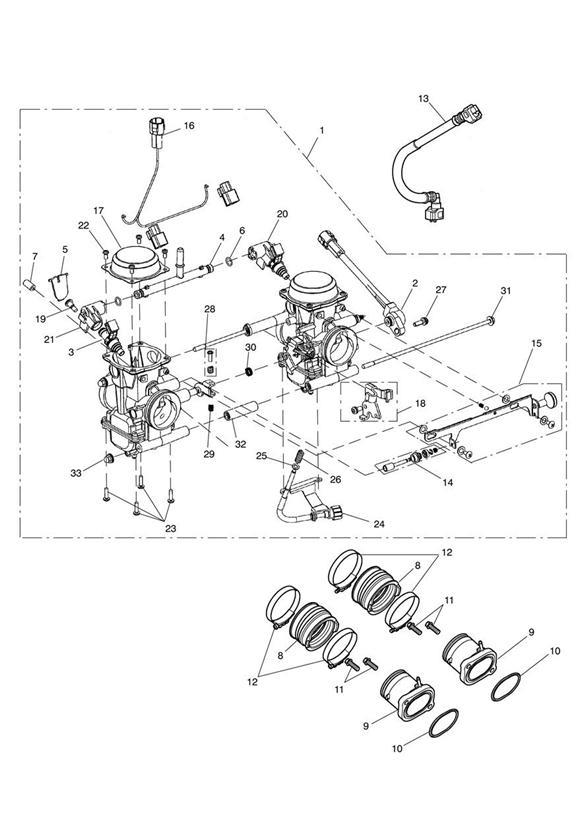 2017 Triumph Bonneville Sensor, Throttle Position. System