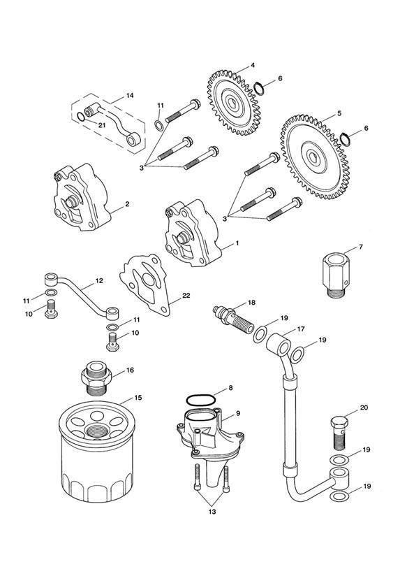 2014 Triumph Bonneville Gear, Oil Pump, 34t. Engine