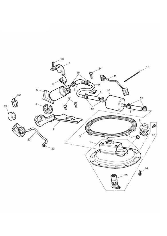 2015 Triumph Bonneville Kit, Pump Plate & O Ring. Fuel