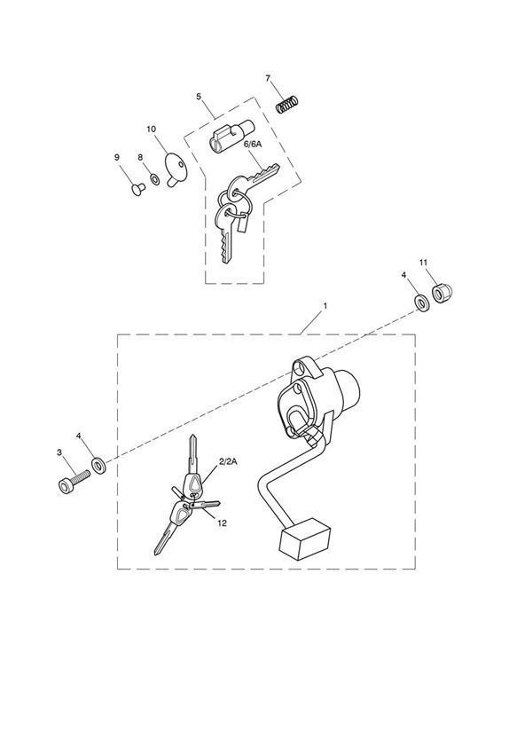 2014 Triumph Scrambler Key, Blank. Switch, Supplied