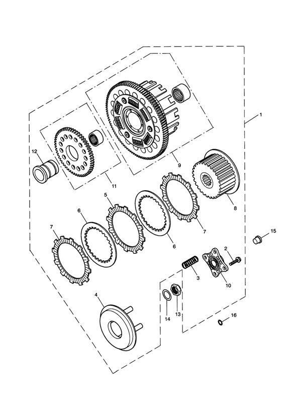 2004 Triumph Speedmaster Outer Drum. Clutch, Transmission