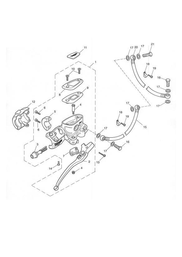 2005 Triumph Speedmaster Master Cylinder Assy, Front