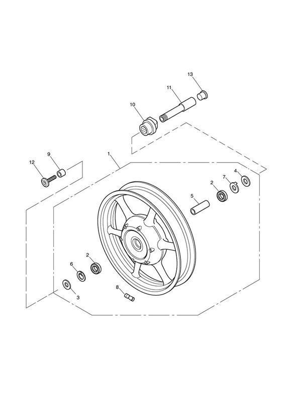 2003 Triumph Speedmaster Front Wheel Assy. > 281465-F2