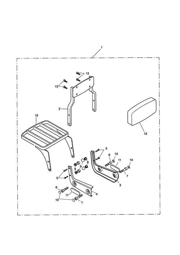 Triumph Speedmaster Passenger Backrest Std & Luggage Rack