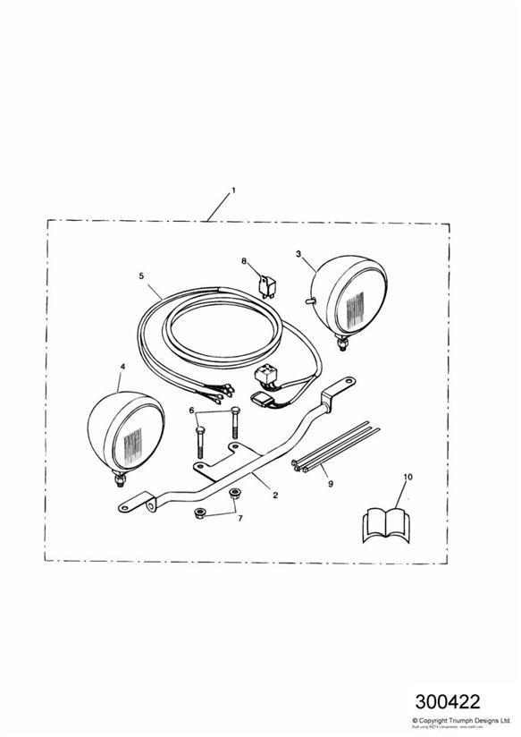 Triumph Speedmaster Light Bar Kit. Motorcycle, Engine