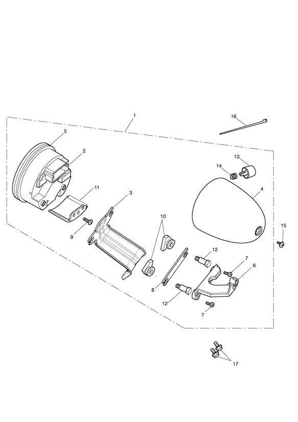 2015 Triumph Speedmaster Screw, Thread Forming, 4 x 16