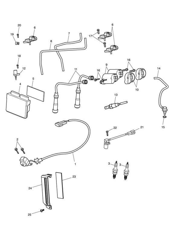 2014 Triumph Speedmaster Sensor, Ignition, V-Grommet