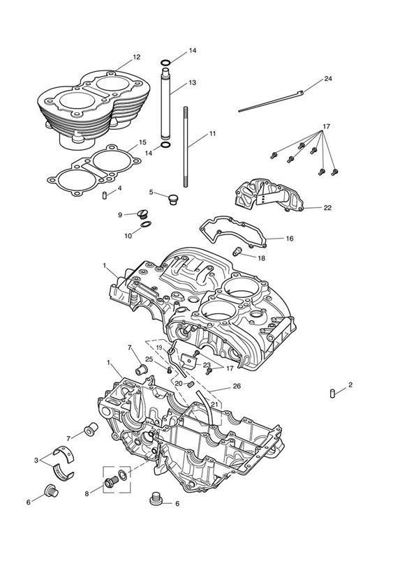 2014 Triumph Speedmaster Hose, Breather Drain Extension