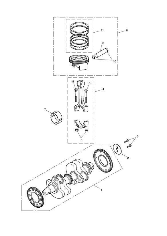 2017 Triumph Speedmaster Piston Assy. Pistons, Crankshaft