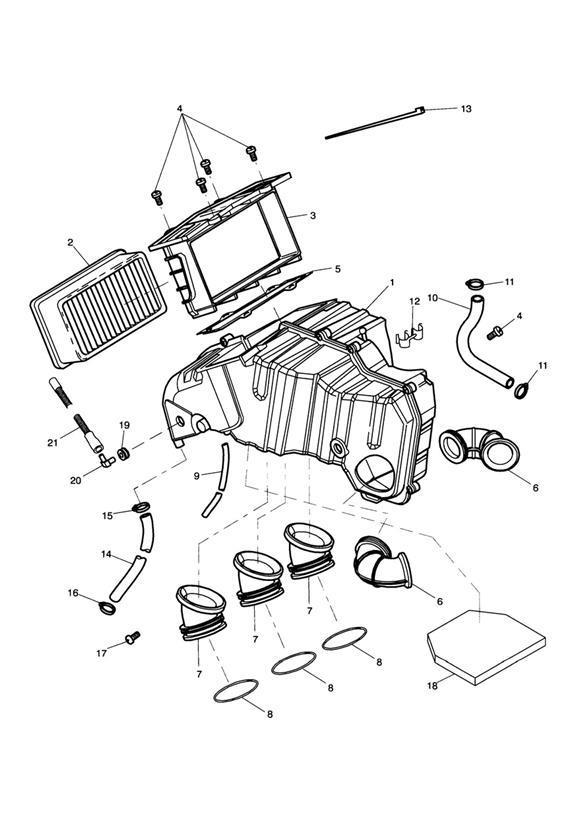 2000 Triumph Sprint Grommet. System, Fuel, ENG, Airbox