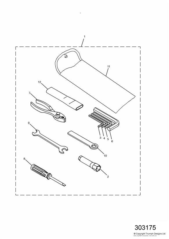 2000 Triumph Sprint Extension bar. Tool, Kit, Body