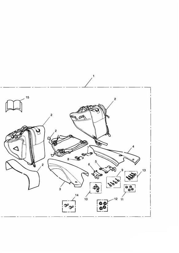 2002 Triumph Sprint Fastener. Kit, Motorcycle, Pannier