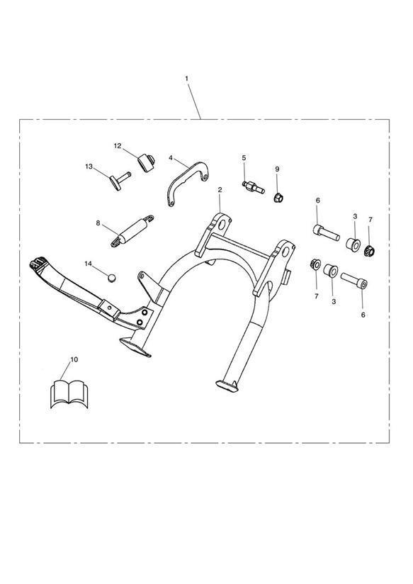 2013 Triumph Thruxton Self Adhesive Rubber Strip. Engine